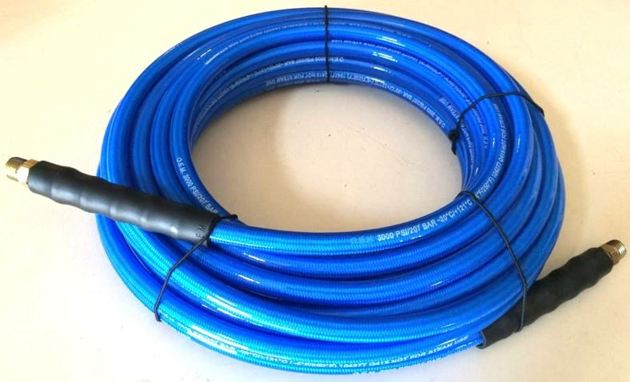 "Carpet Cleaning 50/' Blue High Pressure Solution Hose 1//4/"" 3000 PSI"